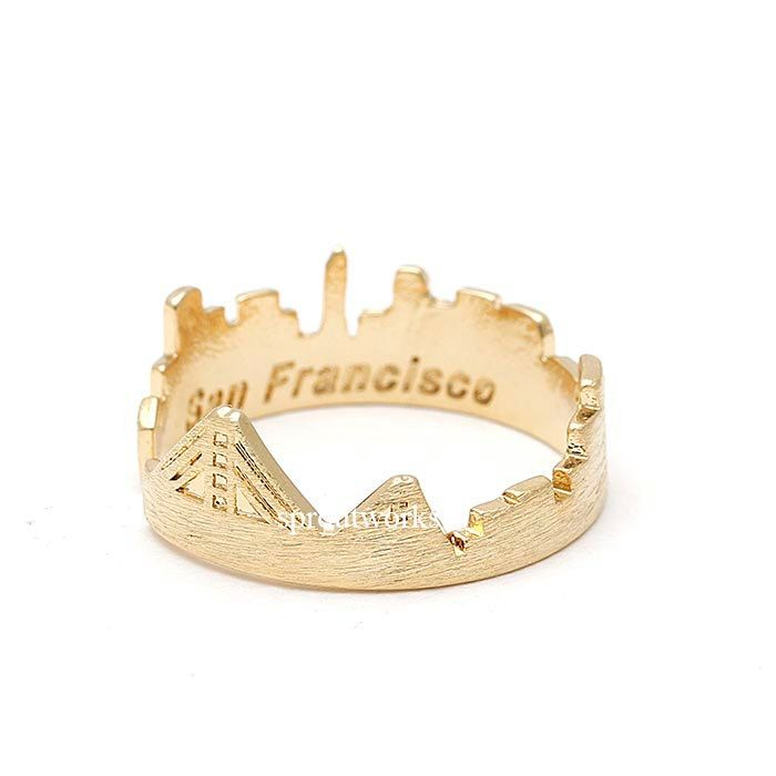 sanfrancisco, sanfrancisco ring, sanfrancisco skyline, city ring, sanfrancisco jewelry, skyline ring, woman ring, skyline by sproutworks on Etsy