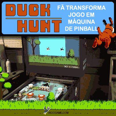 Duck Hunt vira máquina de pinball. Leia o artigo completo: http://wp.me/p90oS-iI