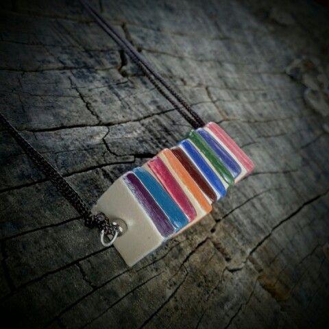 Colorful ceramic necklace from Beck Réka - Brékszer