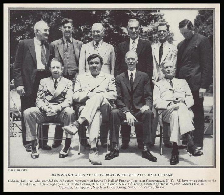 Image result for baseball hall of fame opening 1939