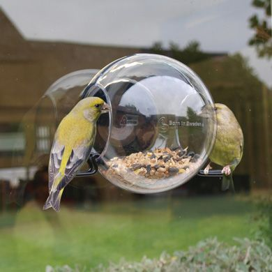 Window Bird Feeder Gifts Gadgets Presents For Men I Love This It Would Be Ideal An Apartment If Money Grew On Trees Modern Feeders