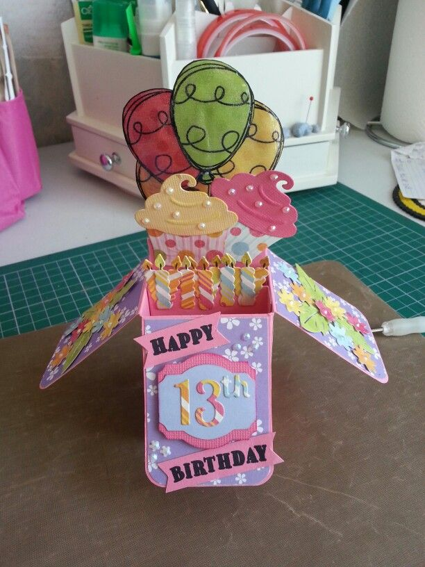 Card in a box - birthday card