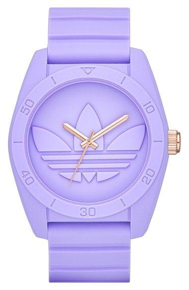 adidas Originals 'Santiago' Silicone Strap Watch, 42mm | Nordstrom