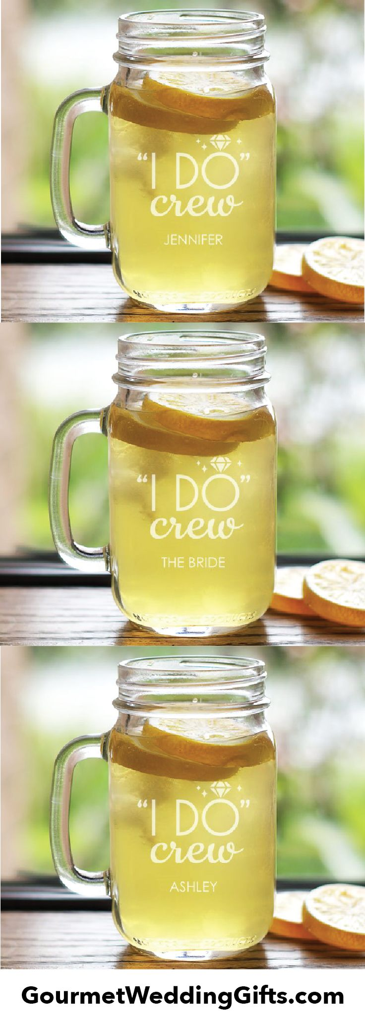 unique personalized bridesmaids gifts | bridal shower gift | fun wedding gift ideas | gifts for the bachelorette party | mason jars