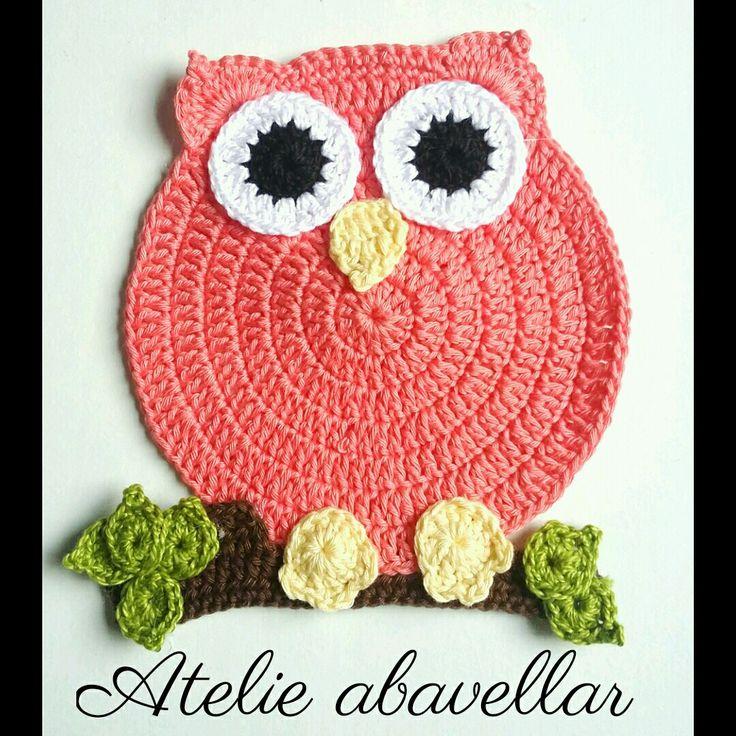 corujas em croche para decoração  www.abavellar.blogspot.com
