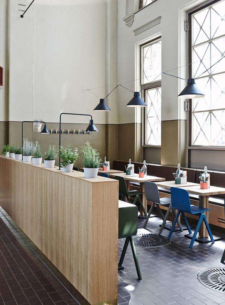 Old Market | Helsinki | indoor plants, blue chairs