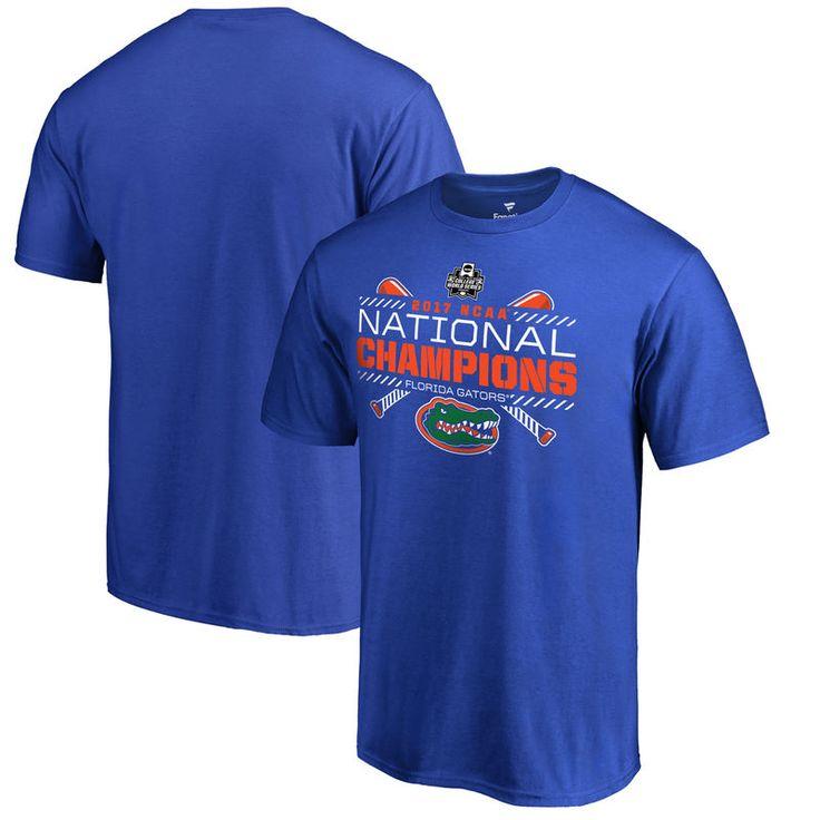 Florida Gators Fanatics Branded 2017 NCAA Men's Baseball College World Series National Champions Line Drive Big & Tall T-Shirt - Blue
