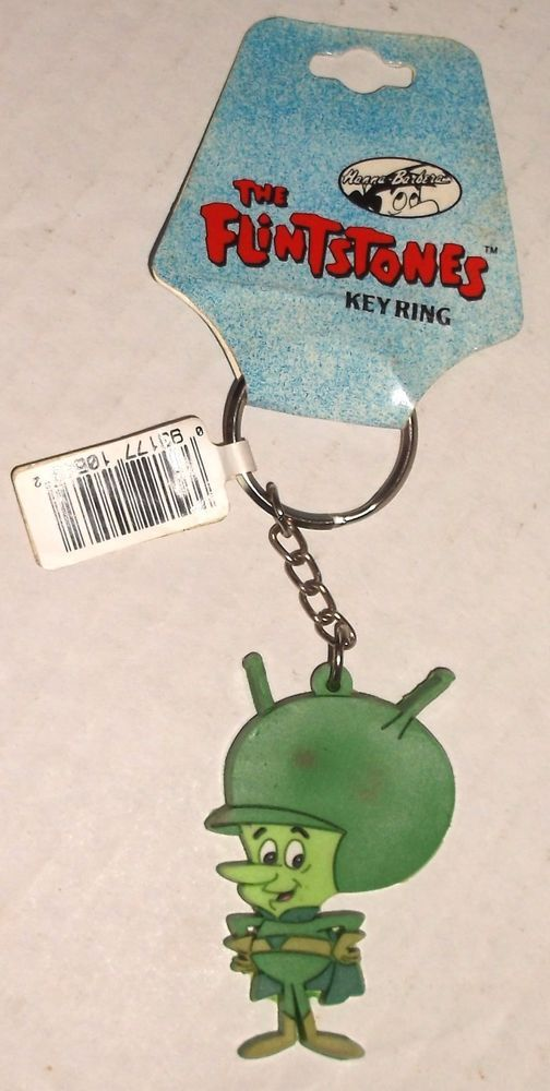 "Flintstones GREAT GAZOO 1994 KEYCHAIN 2.5"" vinyl NWT new/ tags Warner Bros Store  