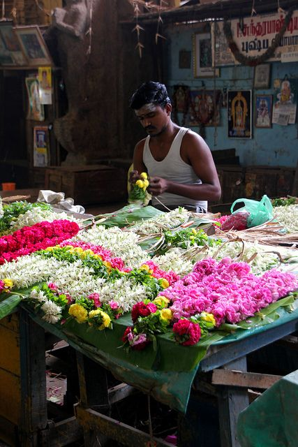 Selling in the Temple Madurai  Tamil Nadu  India