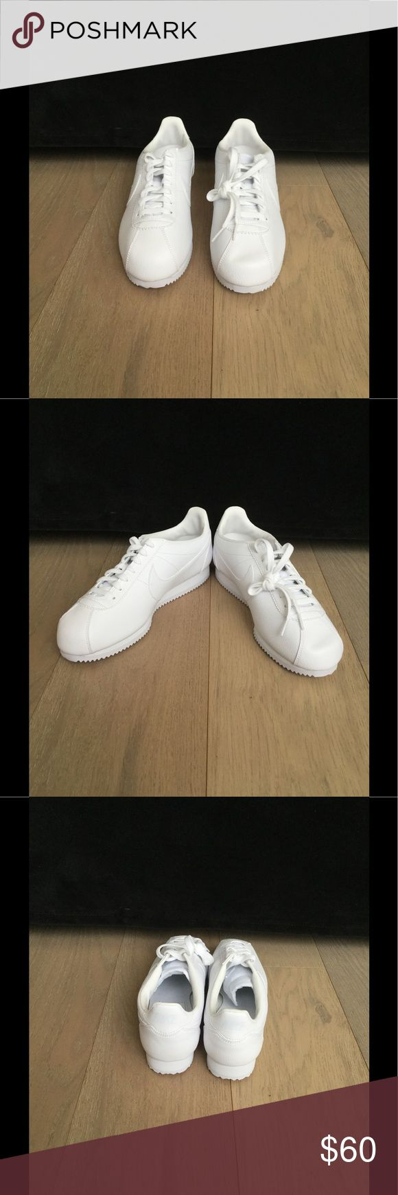 Nike Classic Cortez Leather Trainers In White Nike Classic Cortez Leather Trainers In White / Brand New No Box Nike Shoes Sneakers