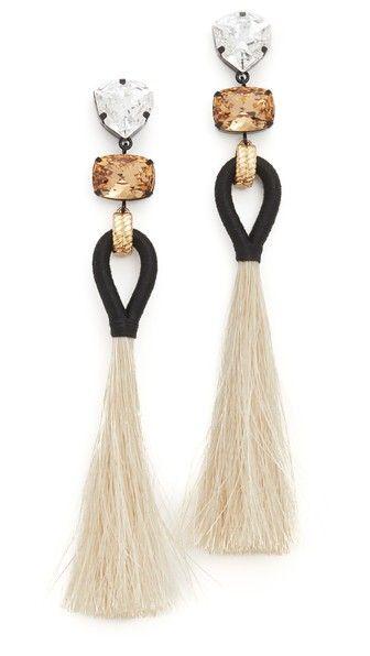 Tory Burch Hanging Tassel Earrings