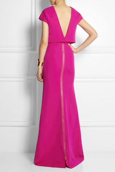 VICTORIA BECKHAM Cropped-overlay wool and silk-blend gown $3,950