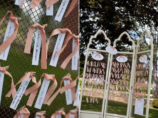 Tie up escort cards using a simple ribbon.