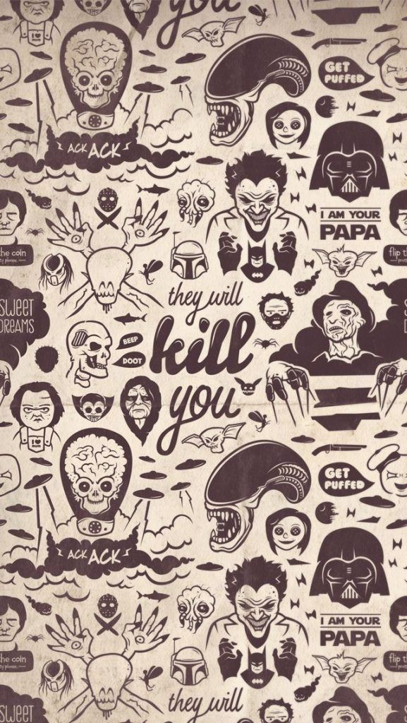 ハロウィン☆海外悪役キャラ大集結iPhone壁紙 iPhone 5/5S 6/6S PLUS SE Wallpaper Background