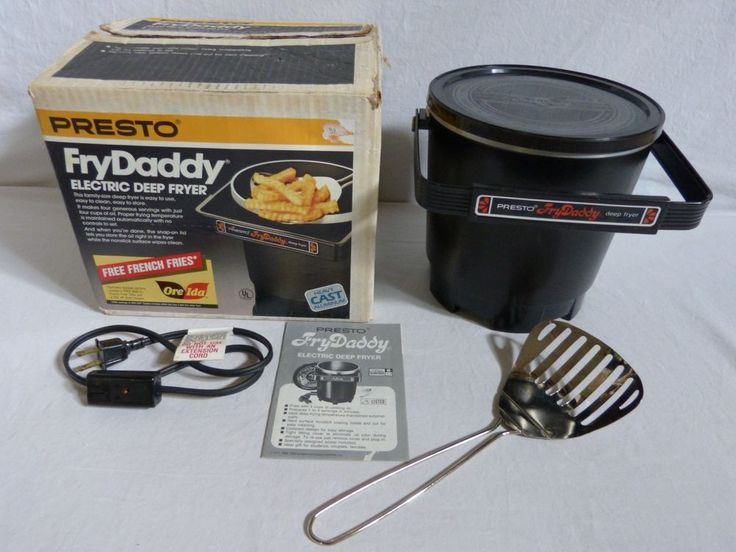Presto Fry Daddy Electric Deep Fryer Model #05420 w/Lid ...