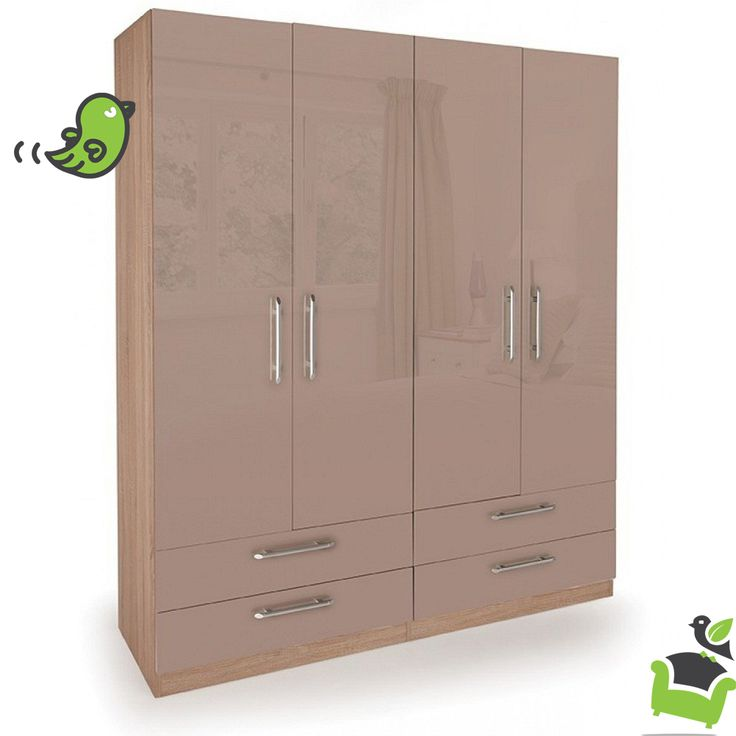 Connect Oval 4 Door Wardrobe with 4 Drawers #Bedroom #wardrobes