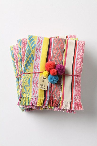 Anthropologie Tulum Napkin Set