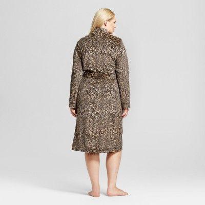 Women's Plus Size Robes Honey Beige 2X, Orange