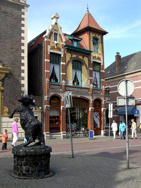 Art Nouveau building in Kampen, The Netherlands
