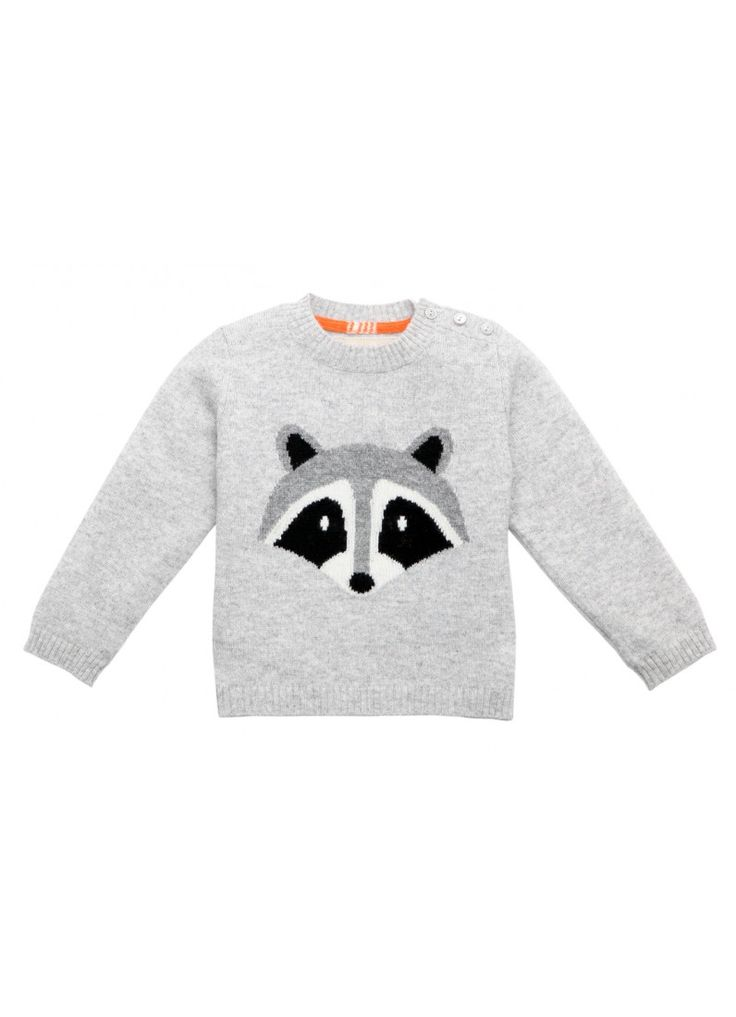 Cashmere Raccoon Sweater : Fawn Shoppe - Global Boutique For Unique Children's Designs