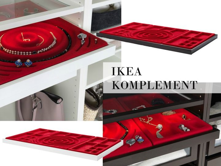 Ikea Komplement Jewelry Drawer And Dividers Jewelry