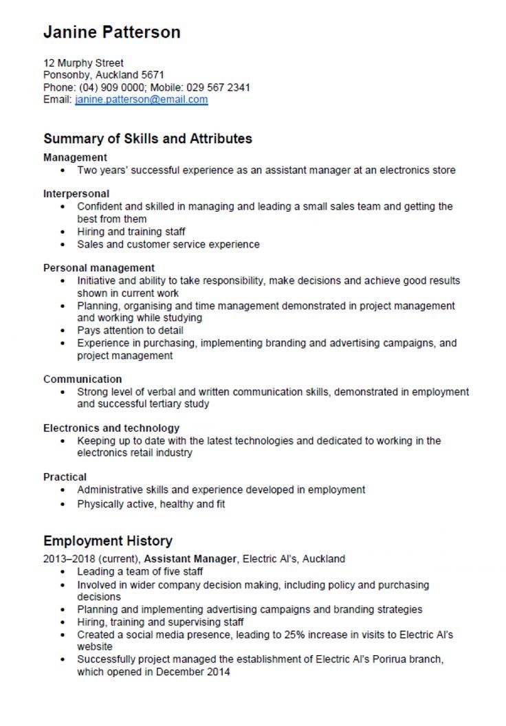 Custom resume writing nz
