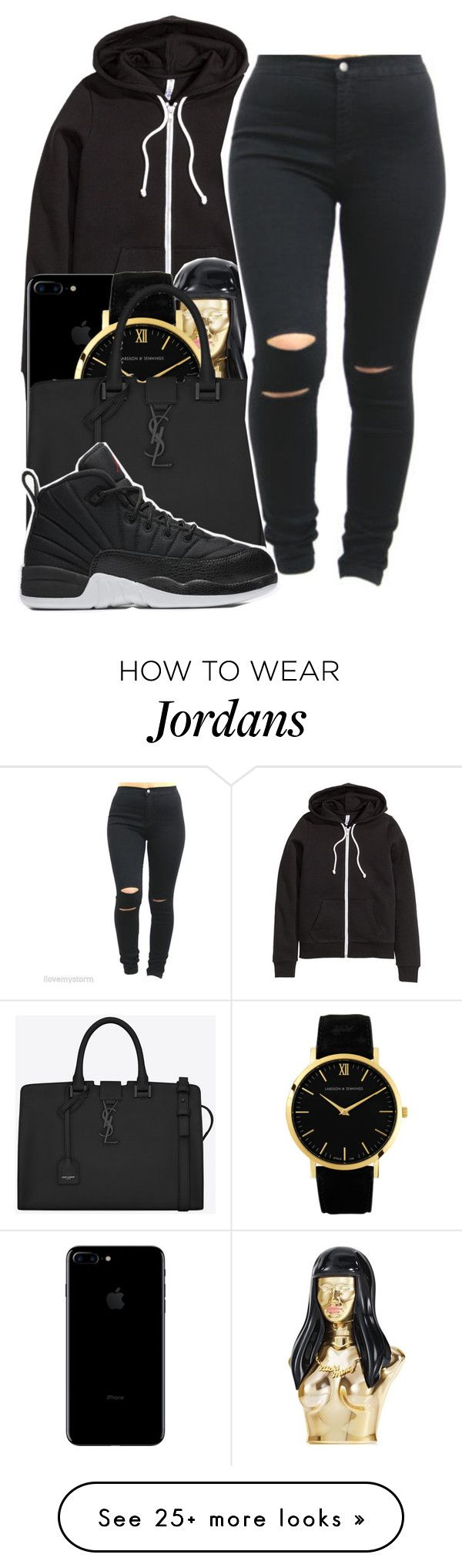 """""""Tell the doctor imma healthy kid i smoke broccoli"""" by maiyaxbabyyy on Polyvore featuring H&M, Nicki Minaj, Larsson & Jennings, Yves Saint Laurent and NIKE"""