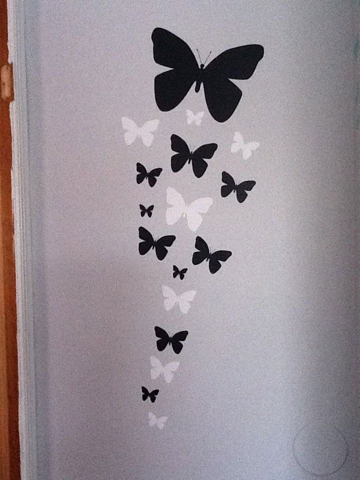 Erfly Wall Decals Black White