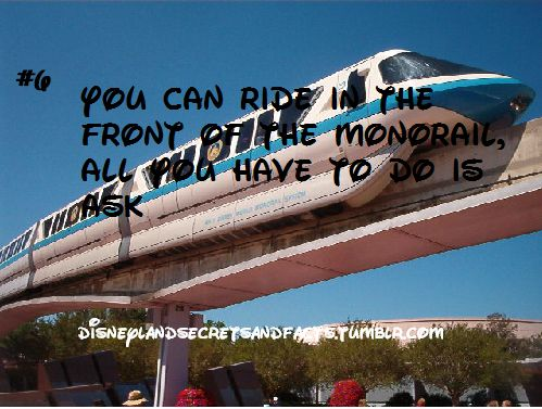 You can ride in the front of the monorail, all you have to do is ask #disneyland #disney #monorail