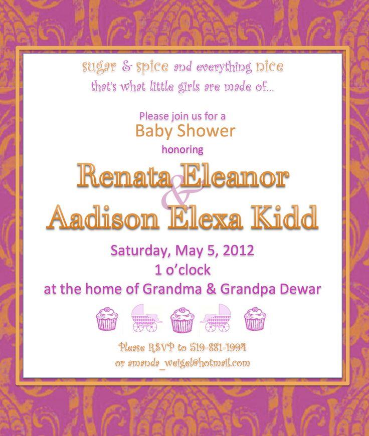 bright baby shower invitation