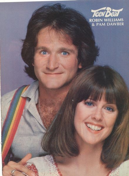 ROBIN WILLIAMS with PAM DAWBER/....Mark Harmon's  (Leroy Jethro Gibbs real life wife.