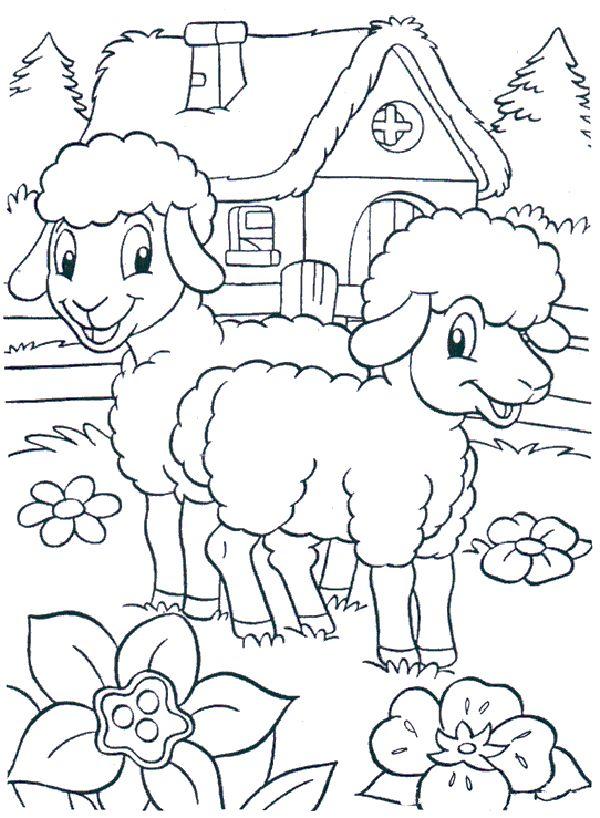 Koyun Keci Boyama Sayfasi Sheep Coloring Pages Free Printable
