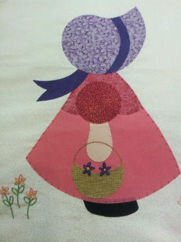 Toalha de banho para bebe: Apply, Sunbonnets, Boneca Sunbonett