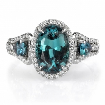 Omi Gems: Alexandrite and Diamond Ring