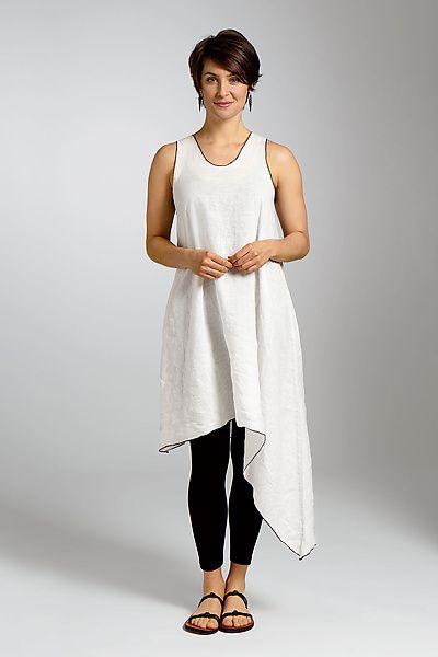 Asymmetric Long Linen Tunic: Cynthia Ashby: Linen Tunic - Artful Home