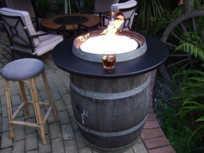 Fire Wine | Convert a wine barrel into a safe outdoor firepit.: