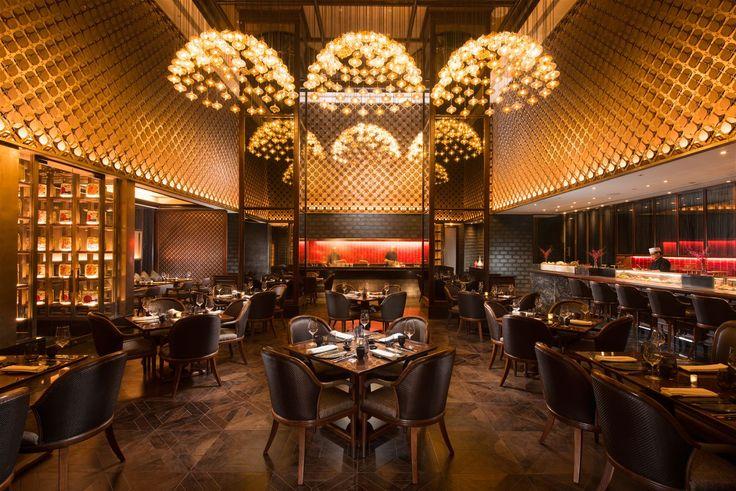 Crystal lanterns in the Pune Conrad hotel. #light #lighting #design #restaurant