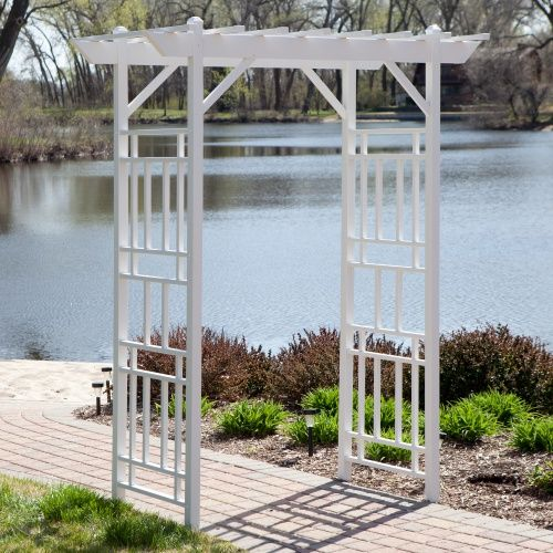 Dura-Trel Wellington 7-ft. Vinyl Pergola Arbor - White - Arbors at Hayneedle
