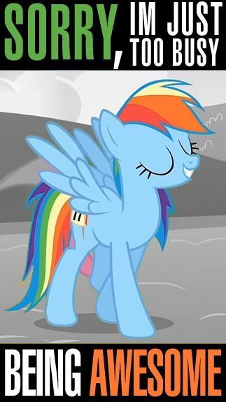 We could all use a bit of Rainbow Dash. (I have sock. Hehee.)