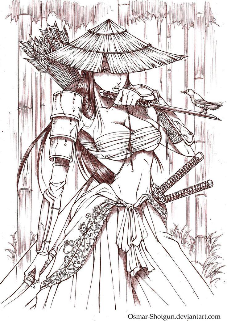 Samurai Girl by ~Osmar-Shotgun on deviantART