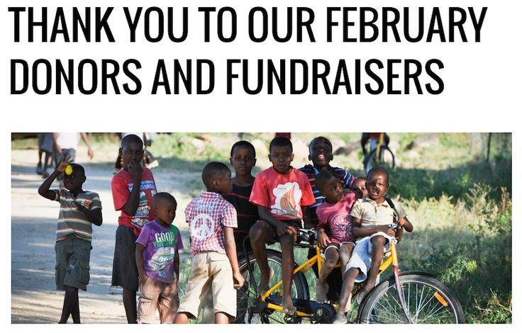 A big 'thank you' from Qhubeka to everyone who made donations in February 2014: http://buff.ly/1gjPjkw