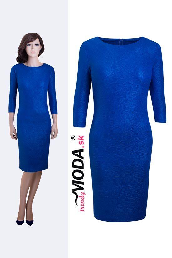 Modré elegantné spoločenské šaty - trendymoda.sk