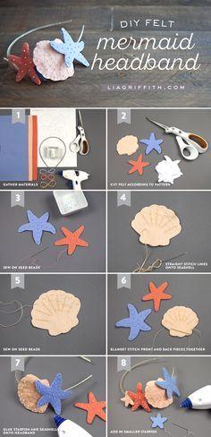 #feltcraft #diyheadband #tutorial www.LiaGriffith.com: