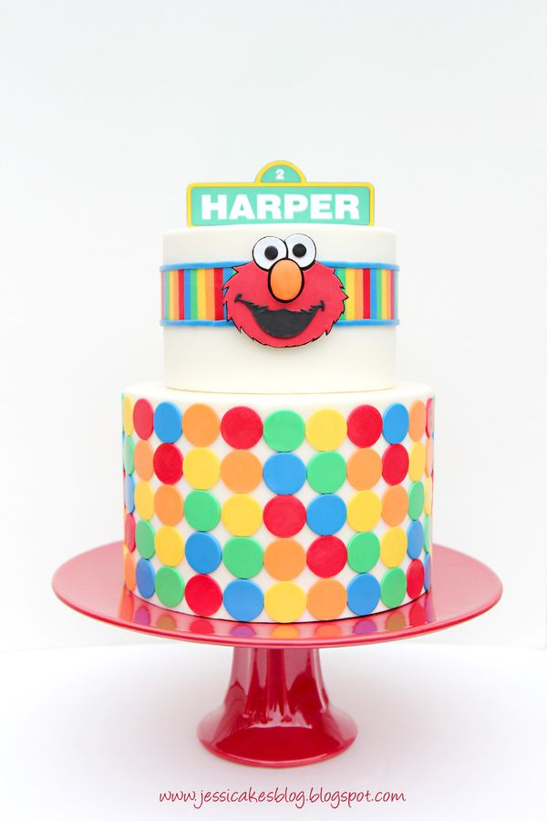 "I made this cake for my baby girl who just turned two and my nephew who turned four on the same day.  One side says ""Harper"" and the other says ""Jordan"".  It was a simple, yet fun cake to make! :)  Thanks for looking!"