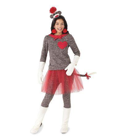 love this sock monkey costume women on zulily zulilyfinds halloween