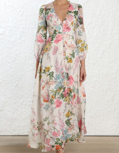 72f4d0b40f Zimmermann Heathers Plunge Long Dress. Model Image.