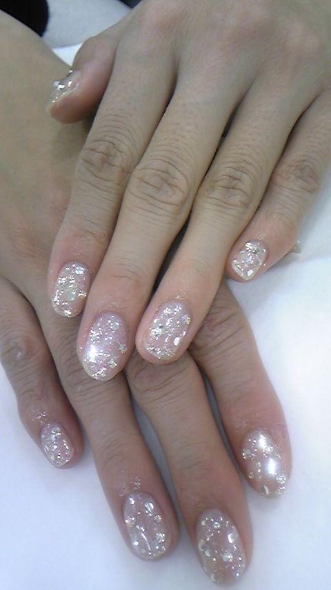 Sparkle nails.
