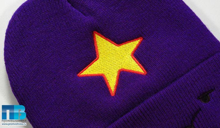 Вышивка на вязаном звезды