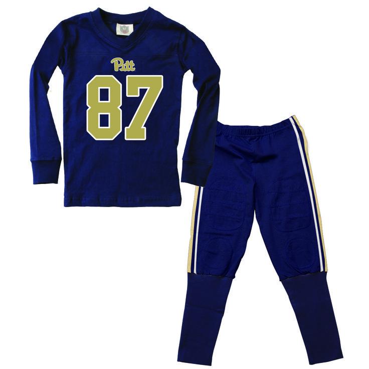 University of Pittsburgh Pitt Football Children Youth Pajama Set Navy