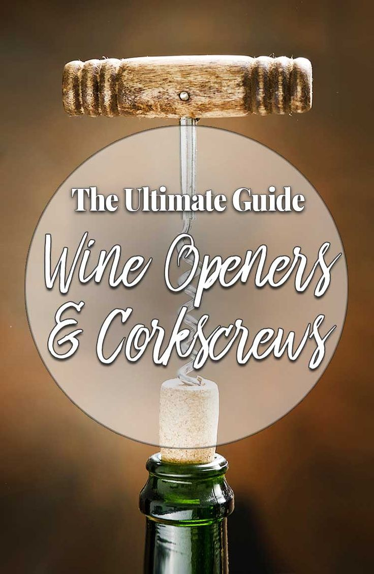 Available in many shapes and sizes, there are many types of corkscrews and wine openers to choose from. Here is our guide to help you find the best bottle opener.